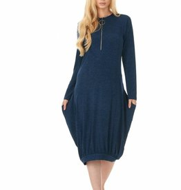 Belladonna Bella Donna Zipper Denim Dress