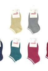 Condor Condor Shimmer Sock with Striped Cuff