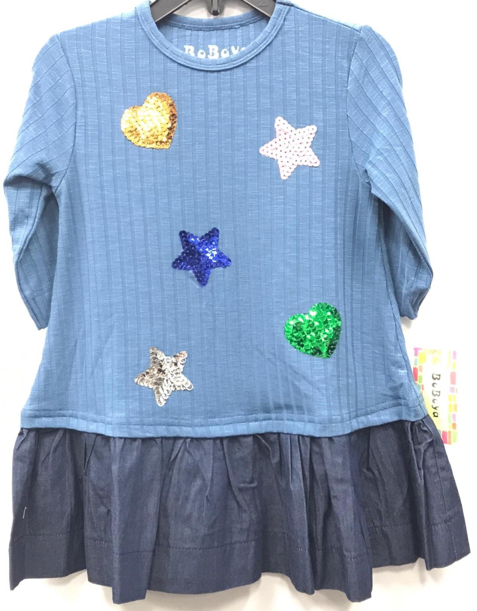 Boboya Boboya Multi Sequin Hearts Dress