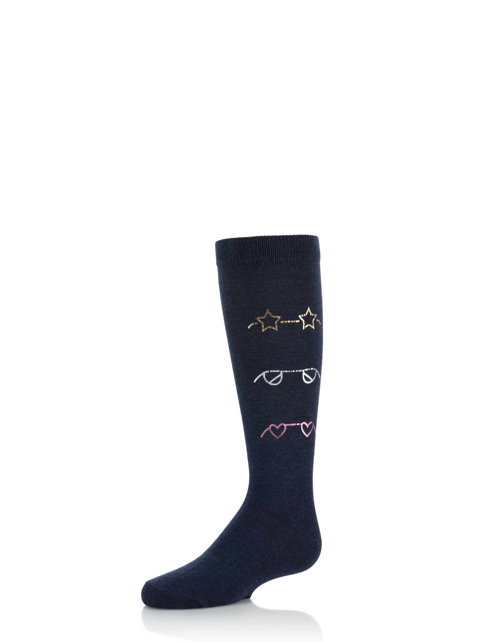 Zubii Zubii Stamped Glasses Knee Sock
