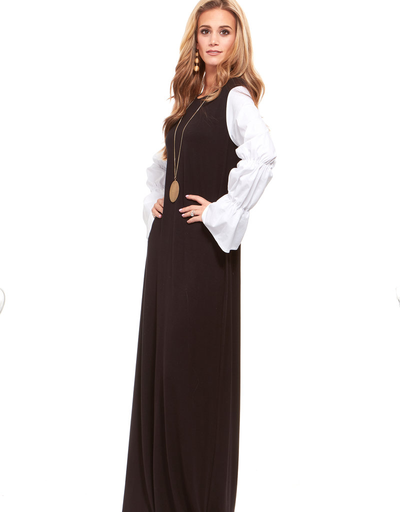 Belladonna Bella Donna Poplin Sleeve Maxi