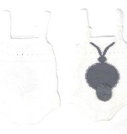 FRAGILE Fragile Knit Overall with Bunny