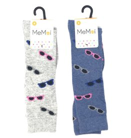 Memoi Memoi Glitzy Glasses Knee Sock