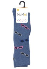 Memoi Memoi Glitzy Glasses Knee Sock