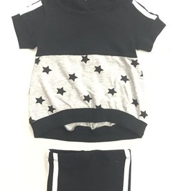 So What So What Hooded 2 Piece Set with Printed Stars