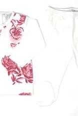 Chant De Joie ChantDeJoie Floral Knit Top with Pants