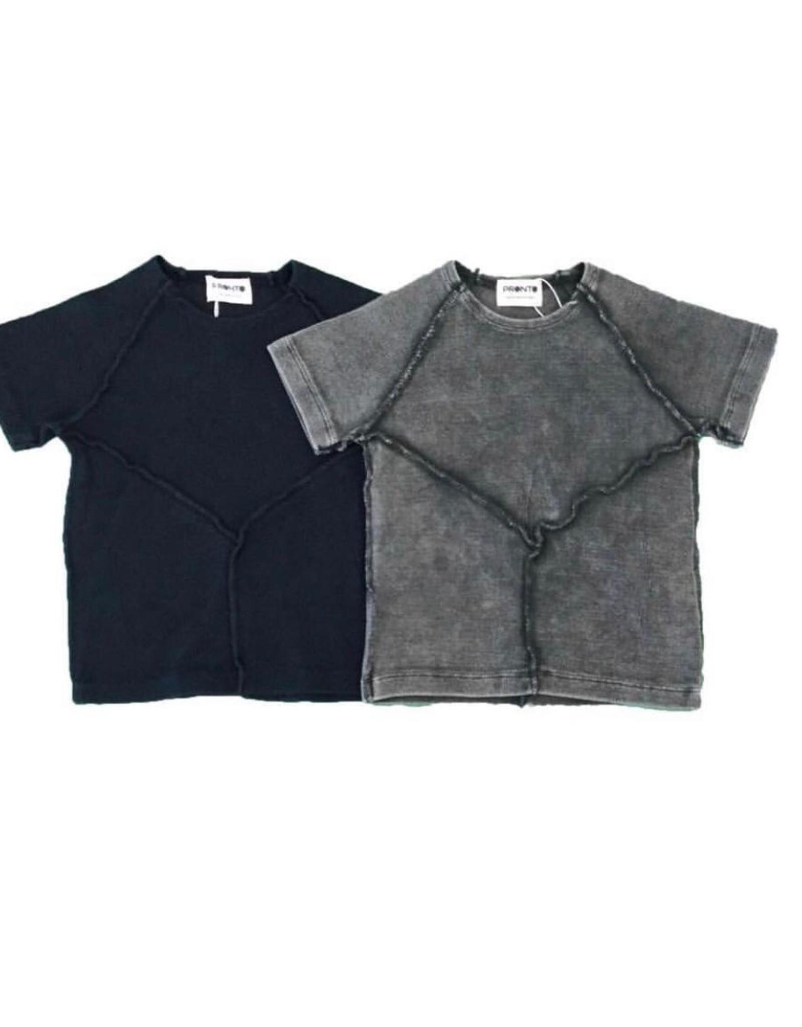 Pronto Pronto Boys Rib Top with Stitch Detail