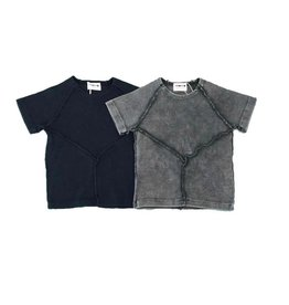 Pronto Pronto Boys Rib Top with Stitch Detail