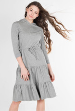 UNCLEAR Unclear Tiered Hoodie Cotton Dress
