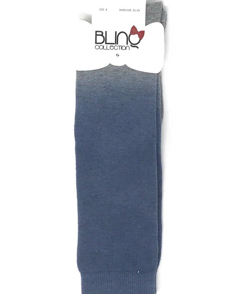 Blinq Blinq Ombre Grey/Lt Denim Knee Socks