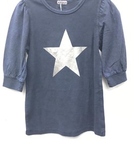 FIVE STAR Five Star Puff Sleeve Top with Star Print
