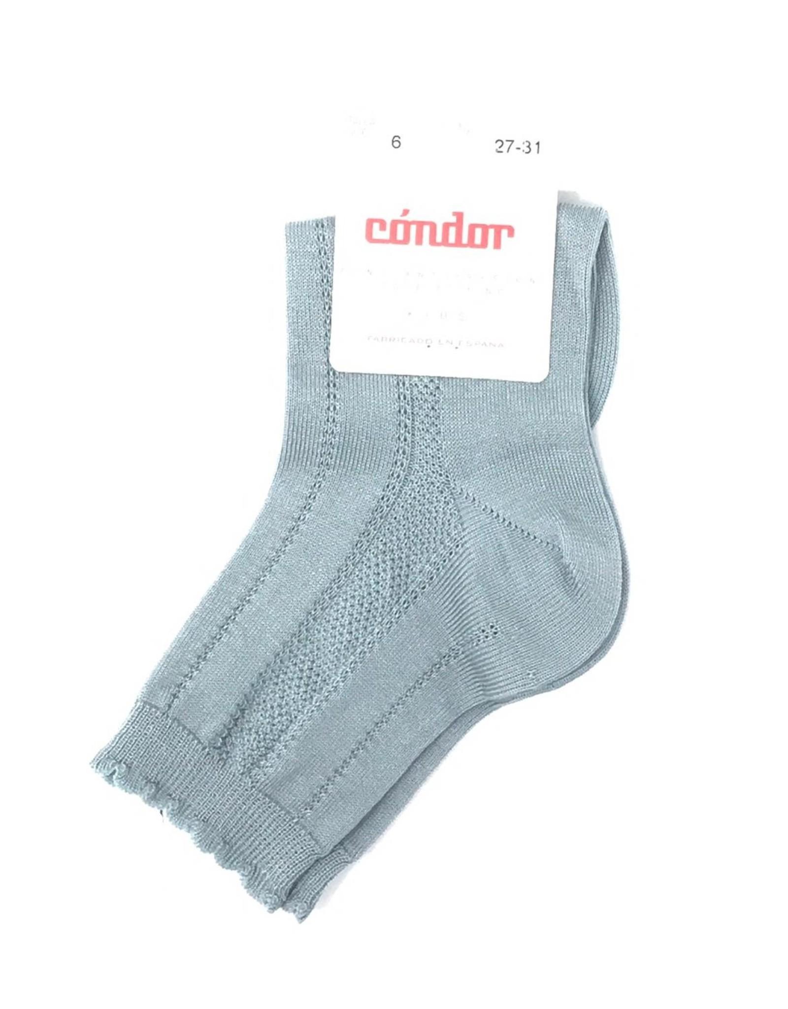 Condor Condor Detailed Scallop Edge Sock