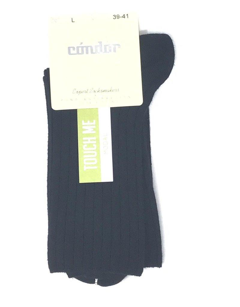 Condor Condor Ladies Ribbed Modal Midcalf Sock