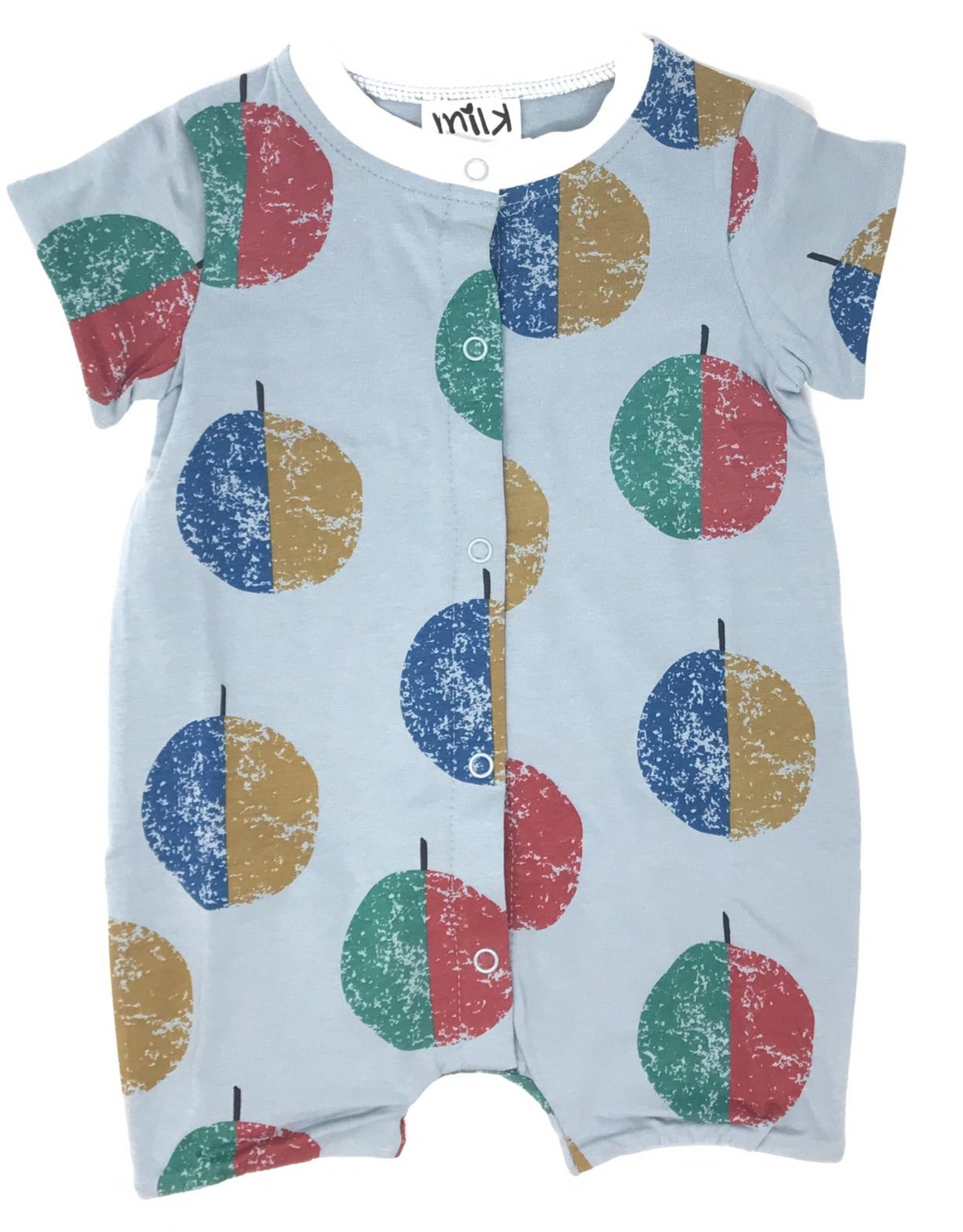 Milk Milk Baby Overalls with Multi Color Circles