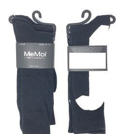Memoi Memoi Mens 3 Pack Ribbed Sock with White Bottom