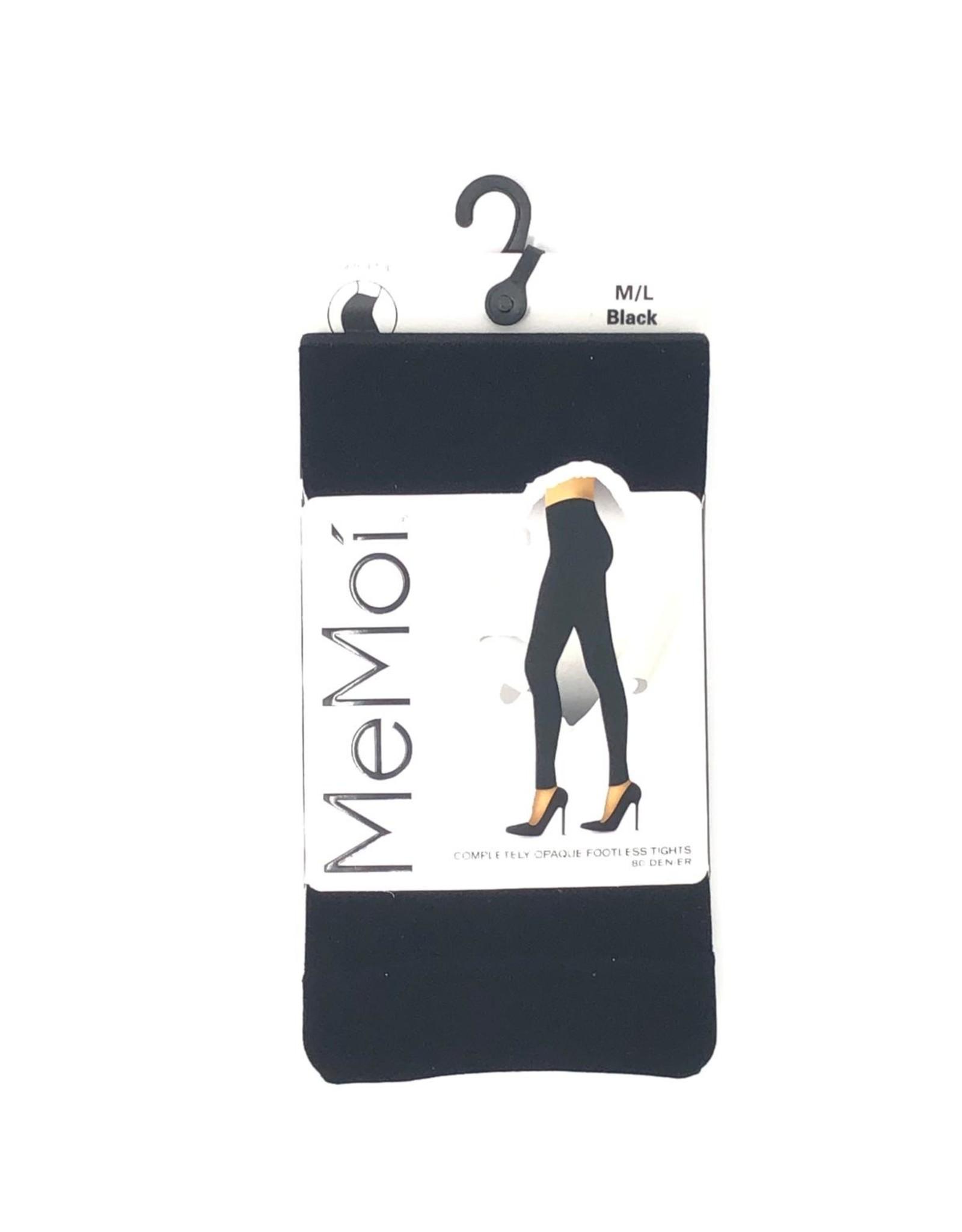 Memoi Memoi Completely Opaque Footless Tights 80 Denier