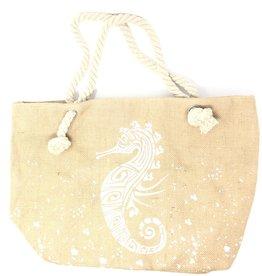 TY TY Seahorse Canvas Beach Bag