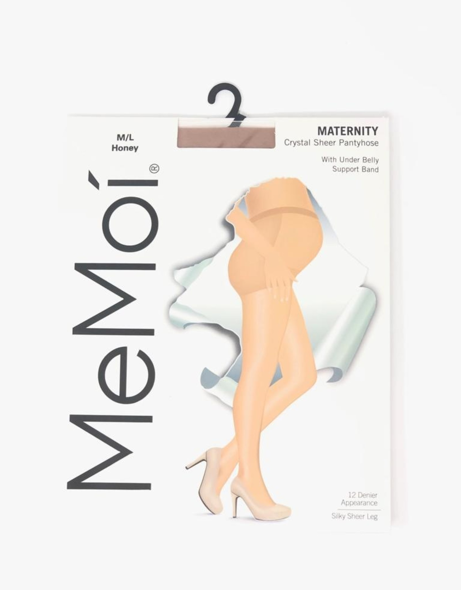 Memoi Memoi Maternity Sheer Pantyhose Under Belly Support Band
