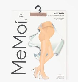 Memoi Memoi Maternity Sheer Pantyhose Under Belly Support Band