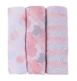Ely's & Co Ely's & Co Muslin Bamboo 3 Pack Swaddles