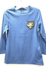 Spades Spades Ladies Rib T-Shirt with Tiger Applique