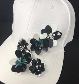 Mad Hatter Mad Hatter Beaded Floral Cap