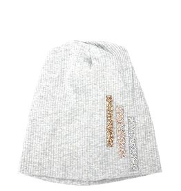 Mad Hatter Mad Hatter Ribbed Beanie with 3 Vertical Rock Clusters