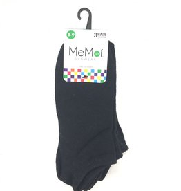 Memoi Memoi Low Cut Socks 3-Pack
