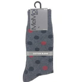 Memoi Memoi Mens Two Tone Dot Socks