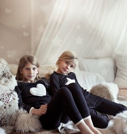 Noggi Noggi Furry Heart/Star 2 Piece Pajama
