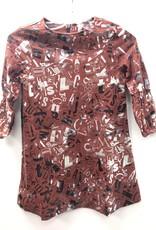Miss Meme Miss Meme ABC All Over Print Dress