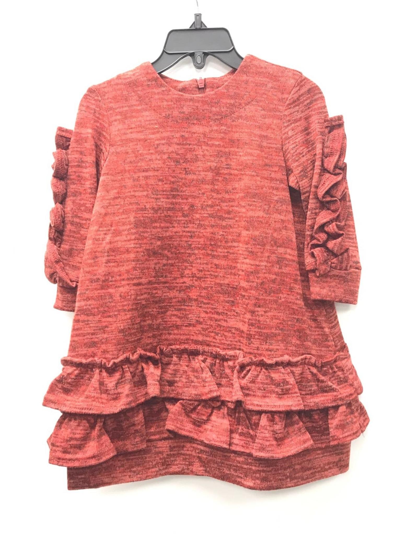 GIRL GIRL Sweaterknit Dress with Ruffles on Sleeves
