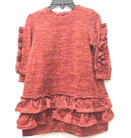 GIRL GIRL Sweaterknit Dress with Ruffles on Sleeves