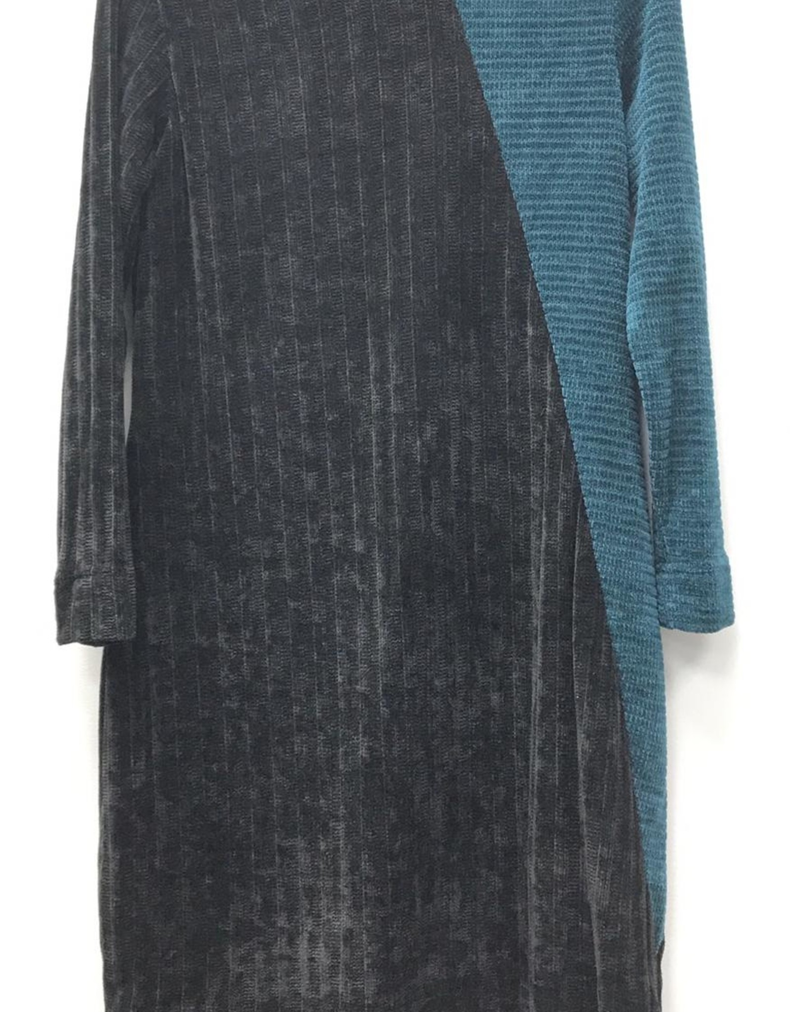 iPosh iPosh Colorblock Chenille Textured Dress