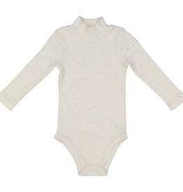 LIL LEGS Speckle Rib Turtleneck Onesie