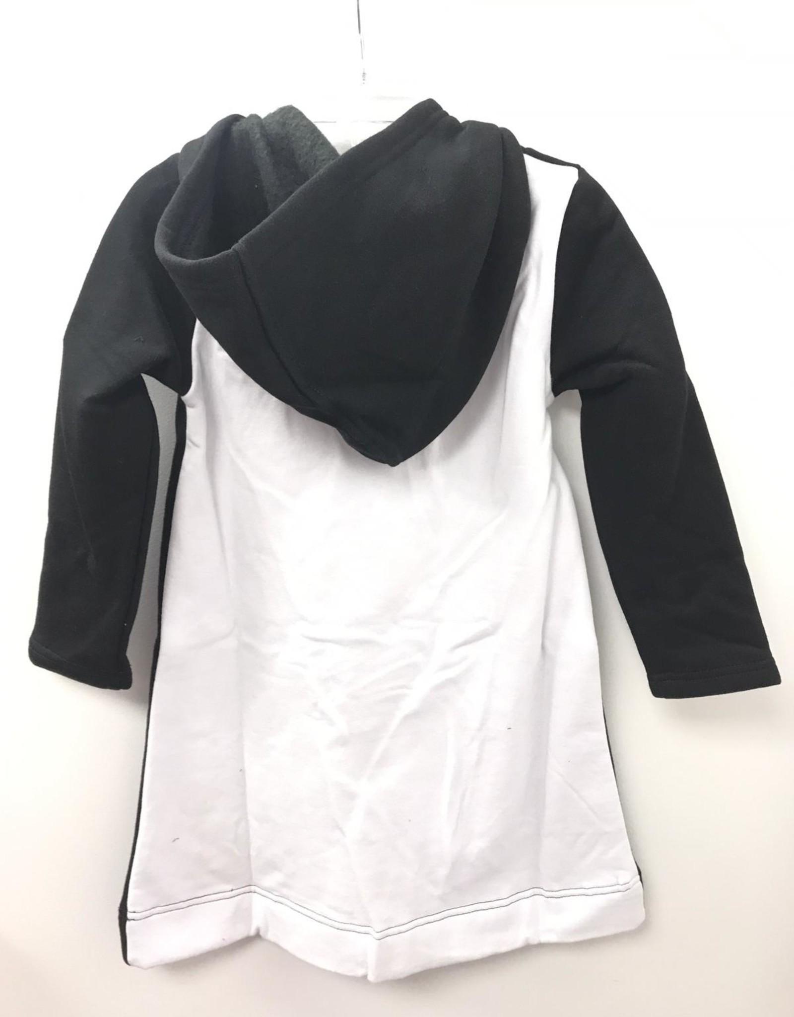 Dot & Line Dot & Line Hooded Sweatshirt Dress with Pockets and Contrast Back