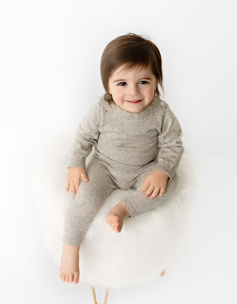 Pouf Pouf Speckled Knit Set