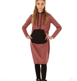 Indigo Indigo Suede Hoodie Dress with Kangaroo Pocket