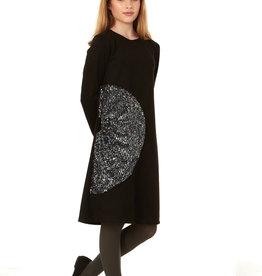 Indigo Indigo Suede Dress with Sequin Semi Circle