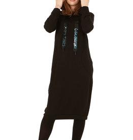 Indigo Indigo Jeweled Hoodie Dress