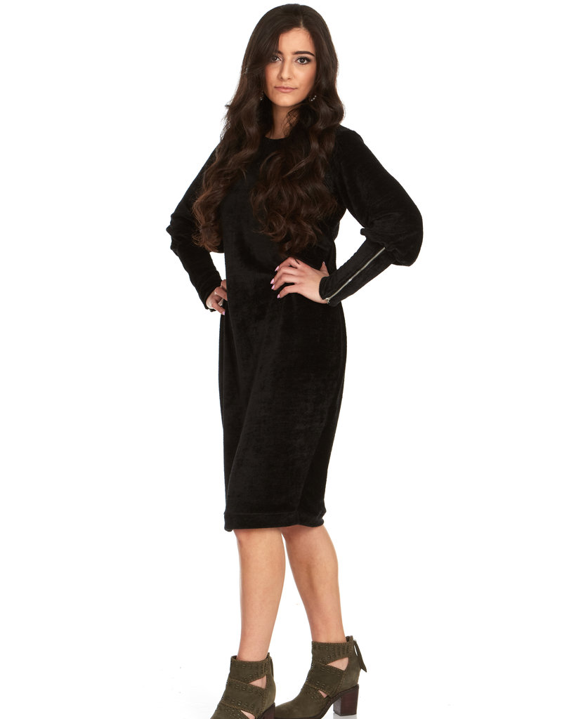 Bella Donna Bella Donna Chenille Dress with Zipper Sleeves