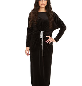 Bella Donna Bella Donna Velvet Batwing Maxi Dress