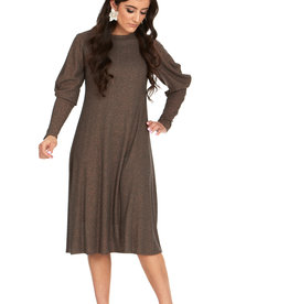 Bella Donna Bella Donna Draped Sleeve Dress with Lurex