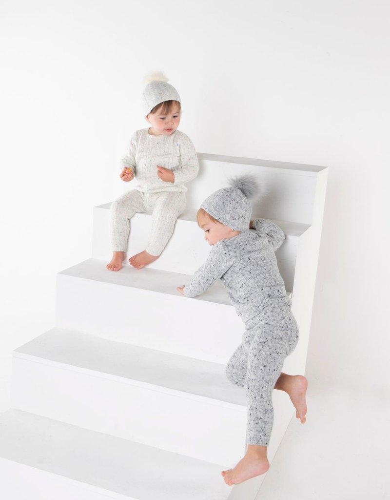 Milk Milk Cable Knit 3 Piece Set (Pants/Top/Hat)