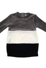Tiffany Tiffany Grey/White/Black Colorblock Dress
