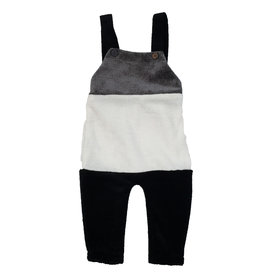 Tiffany Tiffany Grey/White/Black Colorblock Romper