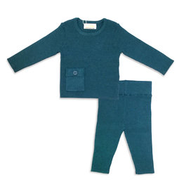 LUX Lux Ribbed 2 Piece Set with Pocket