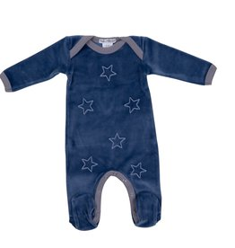 Coton PomPom Coton Pompom Velour Heart/Star Stretchie
