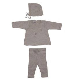 Chant De Joie Chant De Joie 3 Piece Knit Set with Lurex (Shirt/Pants/Bonnet)