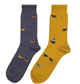 Condor Condor Mens Dog Print Sock